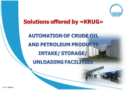 Solutions of crude oil and petroleum products intake/storage/unloading facilities booklet
